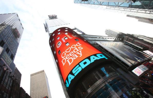 יום מעשים טובים בבורסה בניו-יורק